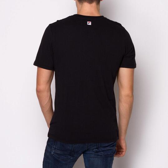 FILA BASIC Camiseta Manga Corta Hombre Negro