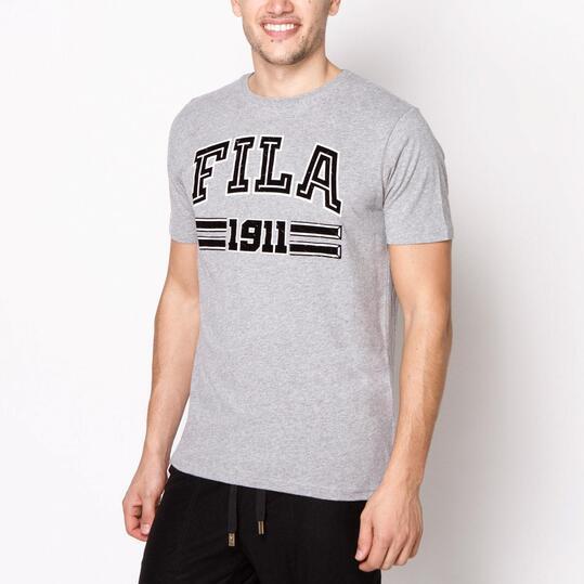 FILA BASIC Camiseta Manga Corta Hombre Gris
