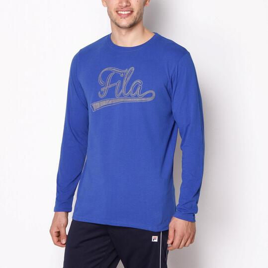FILA BASIC Camiseta Larga Azul Hombre
