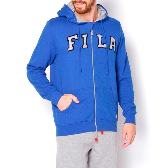 FILA Sudadera Capucha Felpa Azul Hombre