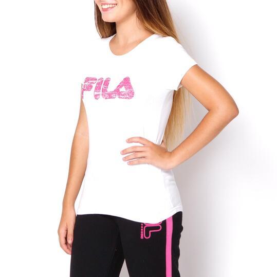 FILA BASIC Camiseta Manga Corta Blanco Mujer