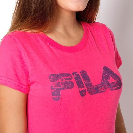 FILA BASIC Camiseta Manga Corta Fucsia Mujer