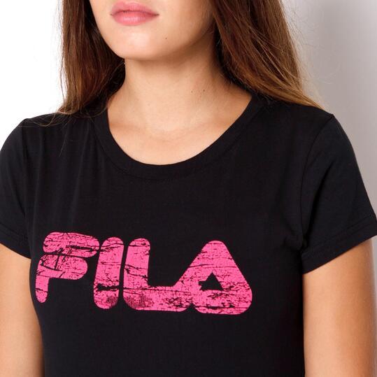 FILA BASIC Camiseta Manga Corta Negro Mujer