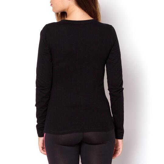 TRUNK & ROOTS FASTENER Camiseta Negra Mujer