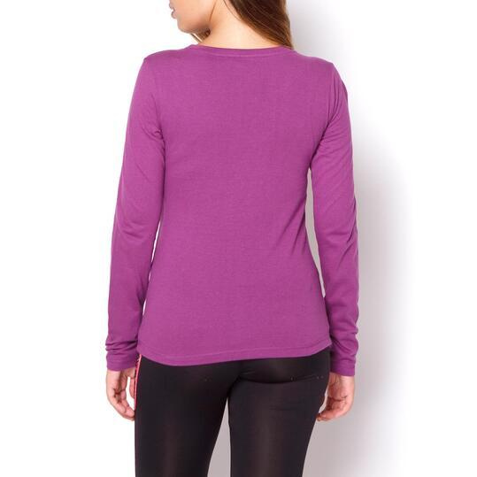 TRUNK & ROOTS FASTENER Camiseta Morada Mujer