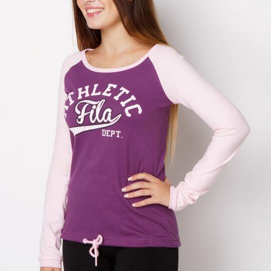 FILA BASIC Camiseta Manga Larga Morado Mujer