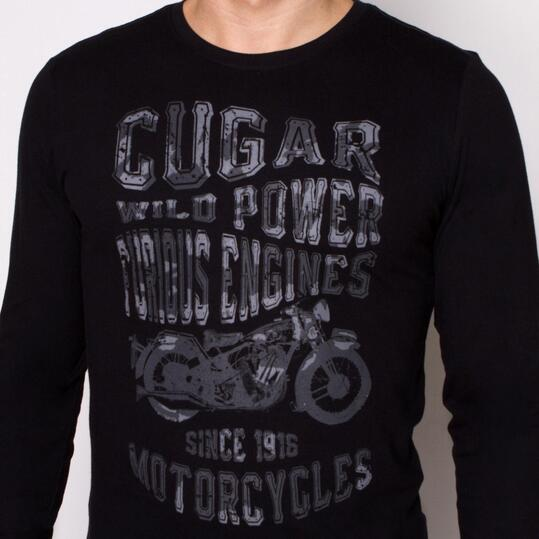 Camiseta Manga Larga TRUNK & ROOTS ENGINE Negro Hombre