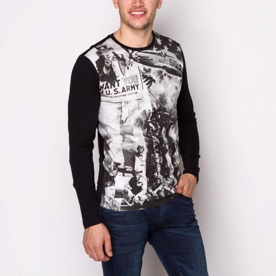 Camiseta Manga Larga TRUNK & ROOTS CUPRE Negro Hombre