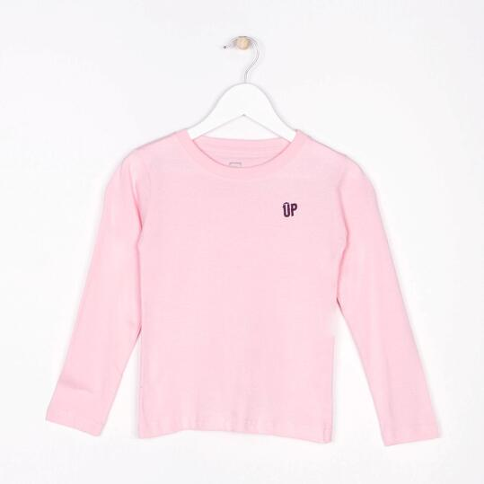 UP Camiseta Manga Larga Rosa Niña (2-8)