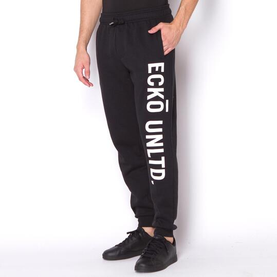 ECKO CAPONE-SKINNY Pantalón Chándal Negro Hombre
