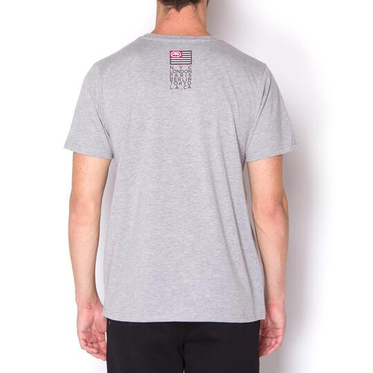 ECKO Camiseta Manga Corta Gris Hombre