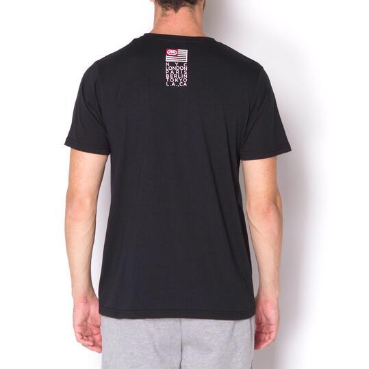 ECKO MADRE Camiseta Negra Hombre