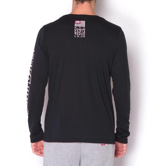 ECKO Camiseta Manga Larga Negra Hombre