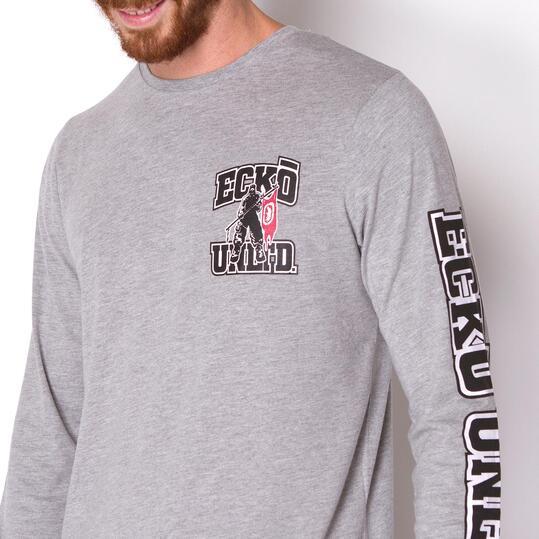 ECKO Camiseta Manga Larga Gris Hombre