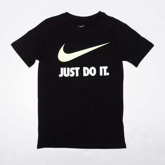 NIKE Camiseta Manga Corta Negra Niño (10-16)