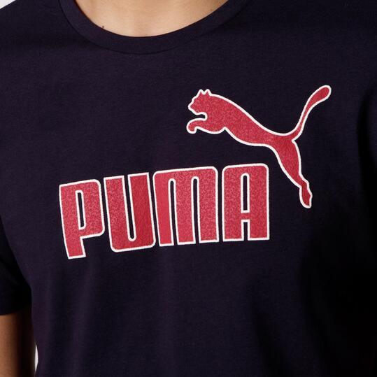 PUMA KA Camiseta Manga Corta Marino Hombre