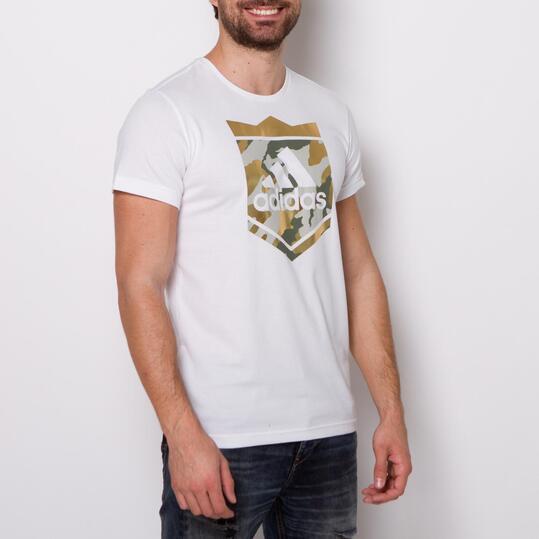 ADIDAS CROWN LOGO Camiseta Blanca Hombre