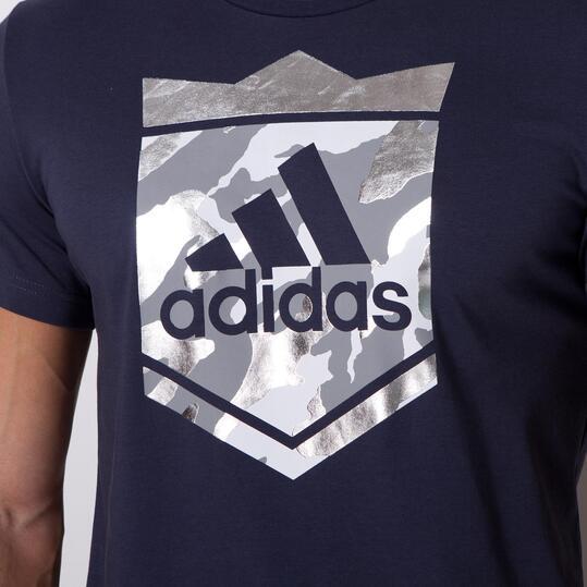 ADIDAS CROWN LOGO Camiseta Negra Hombre