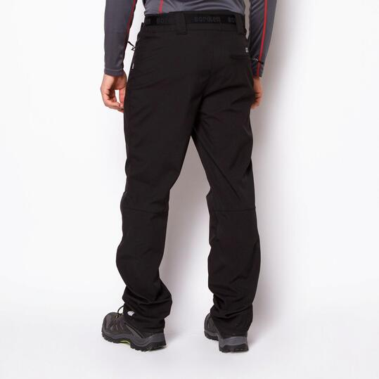 Pantalón Montaña Softshell BORIKEN CLANTON Negro Hombre