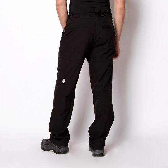 Pantalón Montaña Softshell BORIKEN Negro Hombre