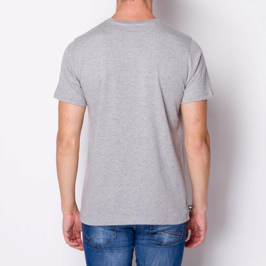 ZOOYORK Camiseta Manga Corta Gris Hombre