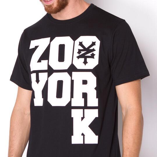 ZOOYORK Camiseta Manga Corta Negro Hombre