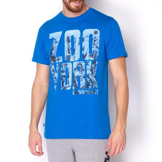 ZOOYORK Camiseta Manga Corta Azul Hombre
