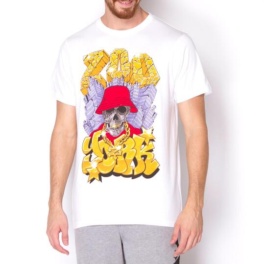 ZOOYORK Camiseta Manga Corta Blanca Hombre