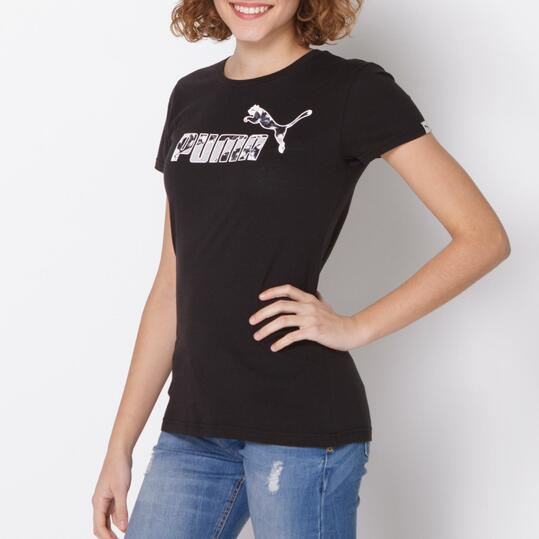 PUMA FUN Camiseta Manga Corta Mujer Negro