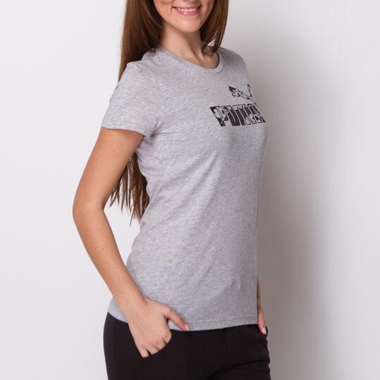PUMA Camiseta Manga Corta Gris