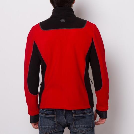 Sudadera Polar BORIKEN Rojo Negro Hombre