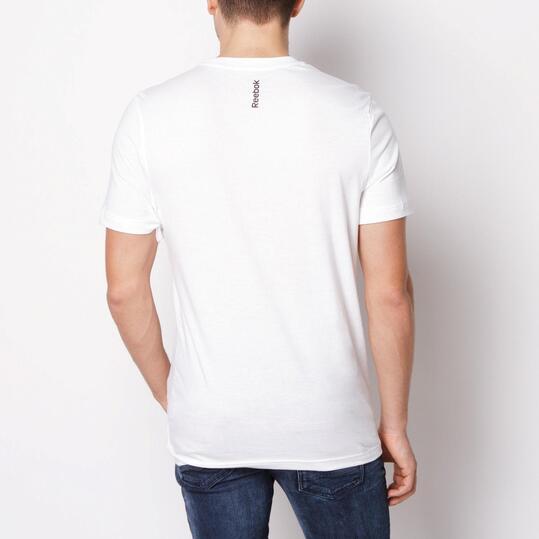 REEBOK LOGO TEE Camiseta Manga Corta Blanca Hombre