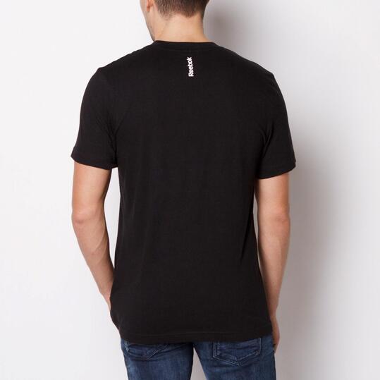 REEBOK LOGO TEE Camiseta Manga Corta Negra Hombre