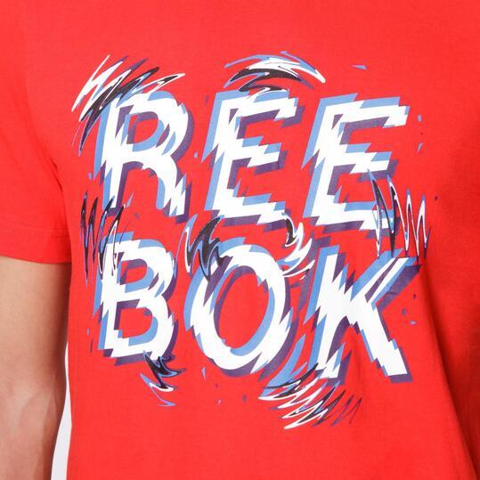 REEBOK LOGO TEE Camiseta Manga Corta Roja Hombre