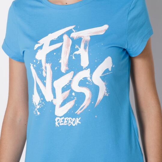 REEBOK Camiseta Fitness Azul Mujer