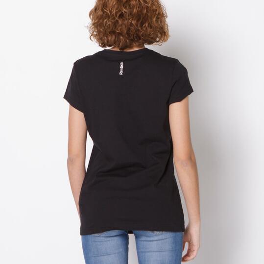 REEBOK Camiseta Fitness Negra Mujer