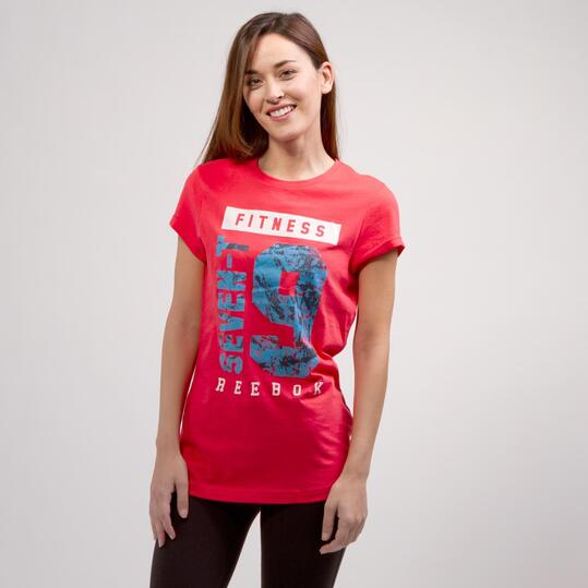 REEBOK FITNESS Camiseta Manga Corta Coral Mujer