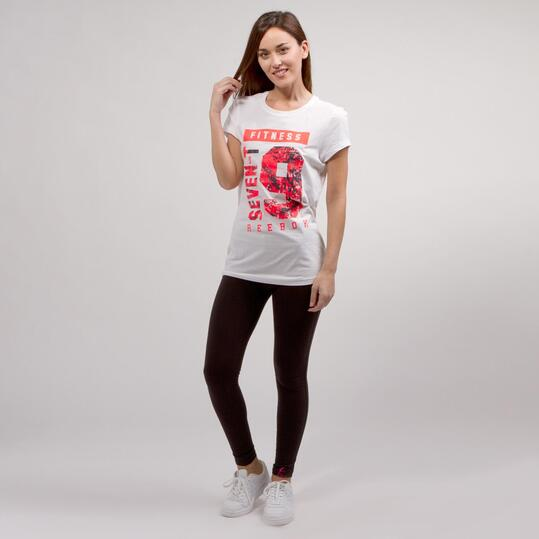 REEBOK FITNESS Camiseta Manga Corta Blanco Mujer