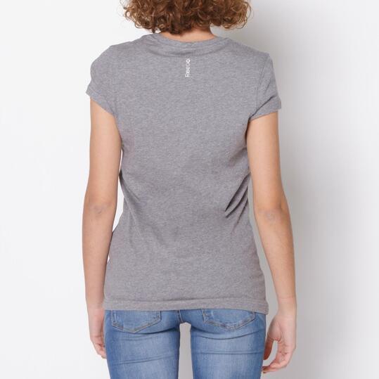 REEBOK Camiseta Fitness Gris Mujer