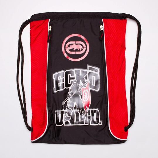 ECKO Gymsack Negro Rojo
