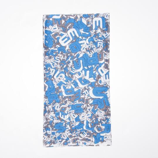 BORIKEN Bufanda Tubular Polar Estampado Azul Gris