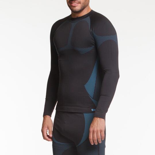 Camiseta Térmica BORIKEN Negro Azul Hombre