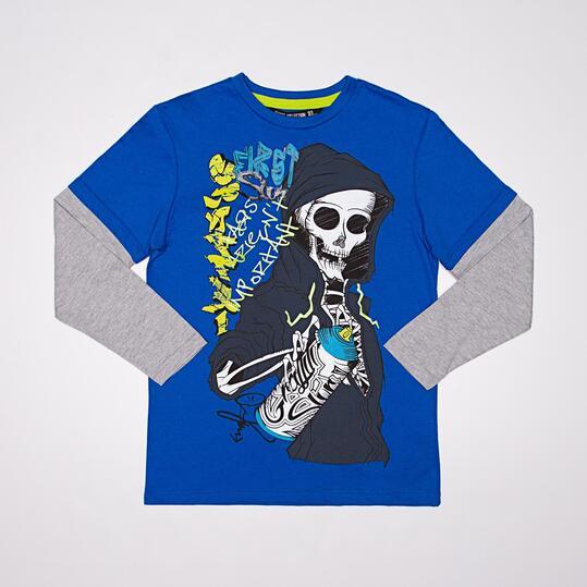 Camiseta Manga Larga SILVER GRAFFITI Azul Niño (10-16)
