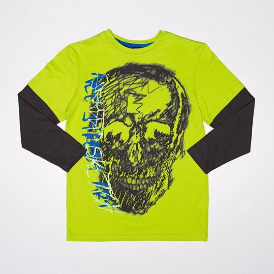 Camiseta Manga Larga SILVER GRAFFITI Pistacho Niño (10-16)