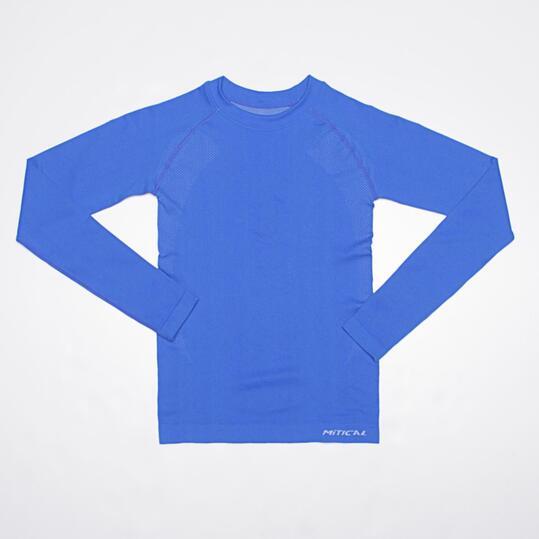 Camiseta Interior Manga Larga MÍTICAL SEAMLESS Azul Niño (10 y 14)