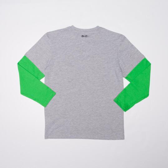 Camiseta Manga Larga SILVER FLAGSHIP Gris Verde Niño (10-16)