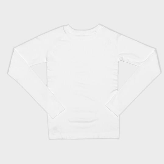 Camiseta Interior Manga Larga MÍTICAL SEAMLESS Blanco Niño ( 10 y 14)