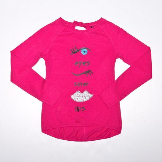 Camiseta Casual SILVER KISS Fucsia Niña (10-16)