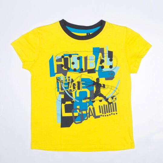 Camiseta Manga Corta SILVER TRACKSUITS Amarillo Niño