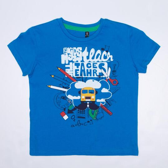 Camiseta Manga Corta SILVER TRACKSUITS Azul Niño